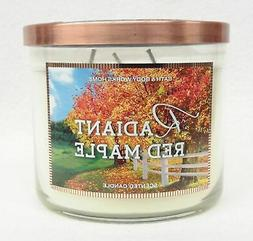 1 Bath & Body Works RADIANT RED MAPLE 3-Wick Large Candle