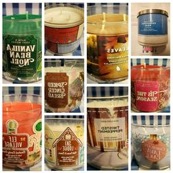 1 BROKEN Bath and Body Works 3 Wick Scented Candle, FREE Shi