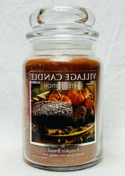 1 Village Candle PUMPKIN BREAD Large 2-Wick Classic Jar Cand
