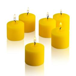 10 Hour Citronella Yellow Votive Candles Set of 12 Made in U