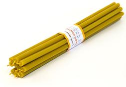 Votprof 10 Natural 100% Pure Beeswax Taper Candles  Natural