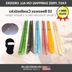 10 Pack Hollow Beeswax Candle Cone – Ear Oil Candles Clean