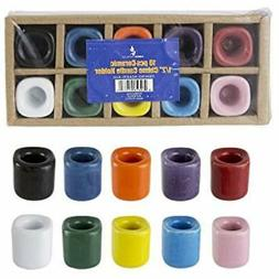 10 Pcs Ceramic Chime Ritual Spell Candle Holders - Assorted