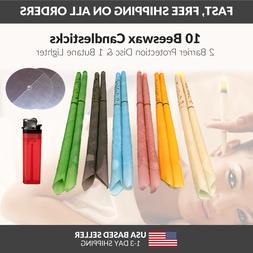 10 Scented Beeswax Candles Cleaning Cones Hollow Candle Wax