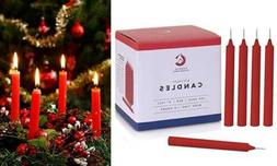 """100 RED Chime Candles SMALL Bulk 4"""" Tall For Trees Birthday"""