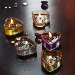 10Pieces Clear Plastic Tealight Cups Cute Candle Mold Wax Co