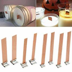 10x DIY Wooden Candle Wicks Core Multi Size Sustainer for Ca