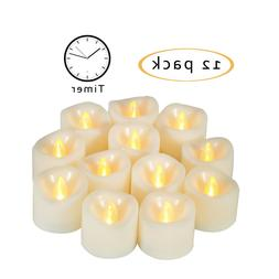 12 PCS Flameless LED Votive Candles Battery Operated Tealigh