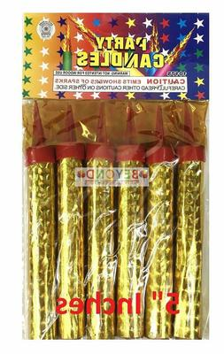 """6ct Birthday Wedding Bottle 5"""" Small Party Gold Sparkling Ca"""