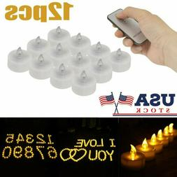 12pc Flameless Votive Candles Battery Operated Flickering LE