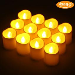 12pcs LED Tea Light Candles Battery Operated Votive Candles