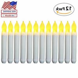12x Battery Operated Candle Sticks LED Flicker Flame Flicker
