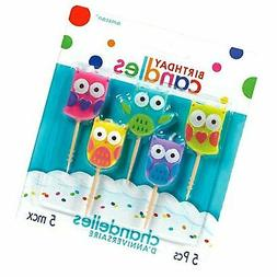 """Amscan 170213 Birthday Candles, 1 1/4"""", Multicolor 1 1/4"""""""