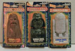 1980 Star Wars Darth Vader Chewbaca and R2-D2  Cake Candles