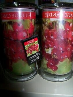 "VILLAGE CANDLE   ""Mountain Currant"" Radiance Wood Wick Crack"