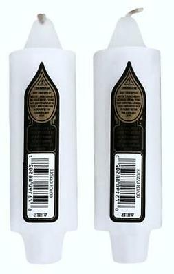 """2 Unscented Coach Candles 5""""x1½"""" has 7/8"""" Base Fits Standar"""