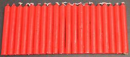 20 India Red Mini Chime Spell Candles