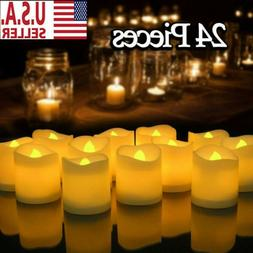 24 PCS Flameless Votive Candles Battery Operated Flickering