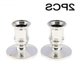 2pcs Taper Candle Holders For Standard Candlestick Home Room