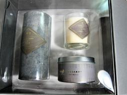 DW Home Tobacco & Oud SCENTED LUXURY CANDLE SET in GIFT BOX