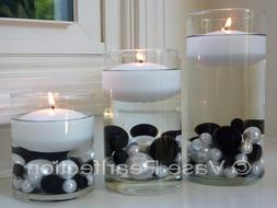 "3"" White Floating Candles - Set of 3 Candles Value Pack - Un"