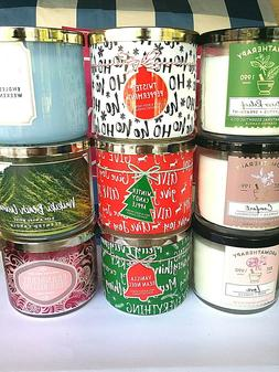 BATH AND BODY WORKS 3-WICK CANDLE 14.5 OZ  YOU CHOOSE THE SC