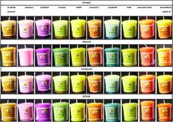 36 SCENTED  VOTIVES CANDLES - BURNTIME PER VOTIVE 7 HOURS