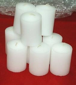 4-15 Hour Unscented Votive White Candles~Longer Burn~Made-In