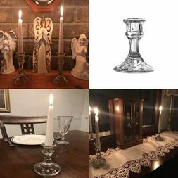 """4"""" Candlestick Holders Elegant Glass Taper Candle For Eye Ca"""