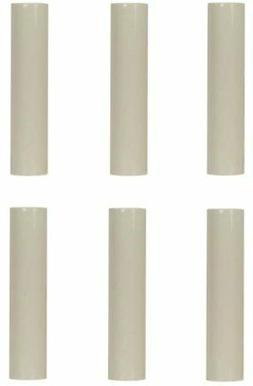 4 Inch Cream Plastic Candle Cover For Candelabra Base Lamp S