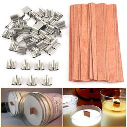 40Pcs Wooden Candle Wicks Core Supplies Multi Size Sustainer
