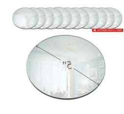 5 inch round mirror candle plate