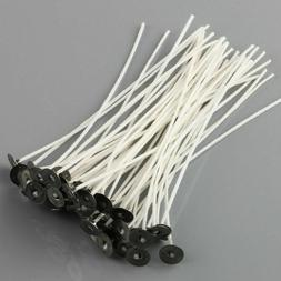 50pcs 6 Inch Candle Wicks COTTON Core Candle Making Supplies