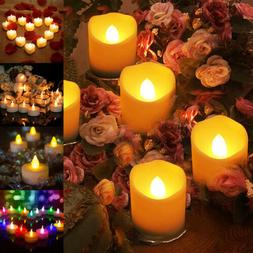 6/12/24pcs Flameless Votive Candles Battery Operated Flicker