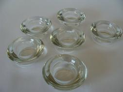 6-Tea Light or Votive Clear Candle Holder~Tapered Sides~Heav