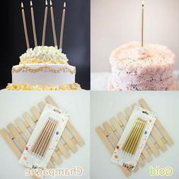 6Pcs Birthday Party Cake Candles 2 Colors Candle Topper Safe