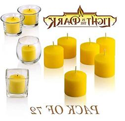 72Set Votive Citronella Candles Summer Scented Scare Away Mo