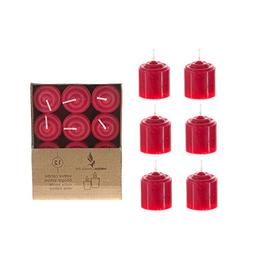 12 pcs 8 Hours Unscented Votive Candles - Red, CASE OF 24