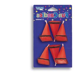 Creative Converting 6-Count Molded Candles, Cone-Shaped Unde