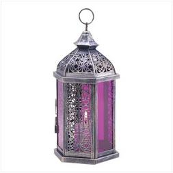 Gifts & Decor Antique Pewter Finish Enchanted Amethyst Candl