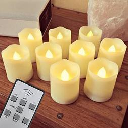 【Timer,18 Pcs Batteries Included】9 Pcs LED Votive Tea Li