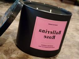 BALLERINA ROSE 3-Wick Candle Bath & Body Works Scented  Whit