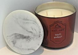 BATH & BODY WHITE BARN FROSTED CRANBERRY 14.5 CANDLE METALLI