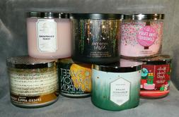 BATH & BODY WORKS WHITE BARN 3 WICK CANDLES - YOUR CHOICE