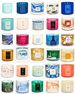 Bath & Body Works/White Barn 3 Wick Candles*Free Shipping*Pi