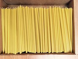 300 Votprof 100% Pure Beeswax Taper Candles  Natural Honey S
