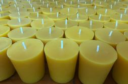 Beeswax Votive Candles - 100% Pure Beeswax - Bulk