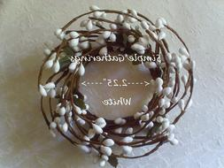 """Berry Candle Ring WHITE Pips Pip 2.25"""" Country Cottage for S"""