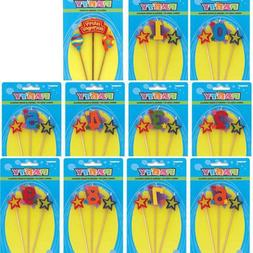 Birthday Cake Toppers Number Candles Party Candle Numbers Se