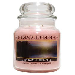 A Cheerful Giver Blissful Moments Jar Candle, 16 oz, Pink